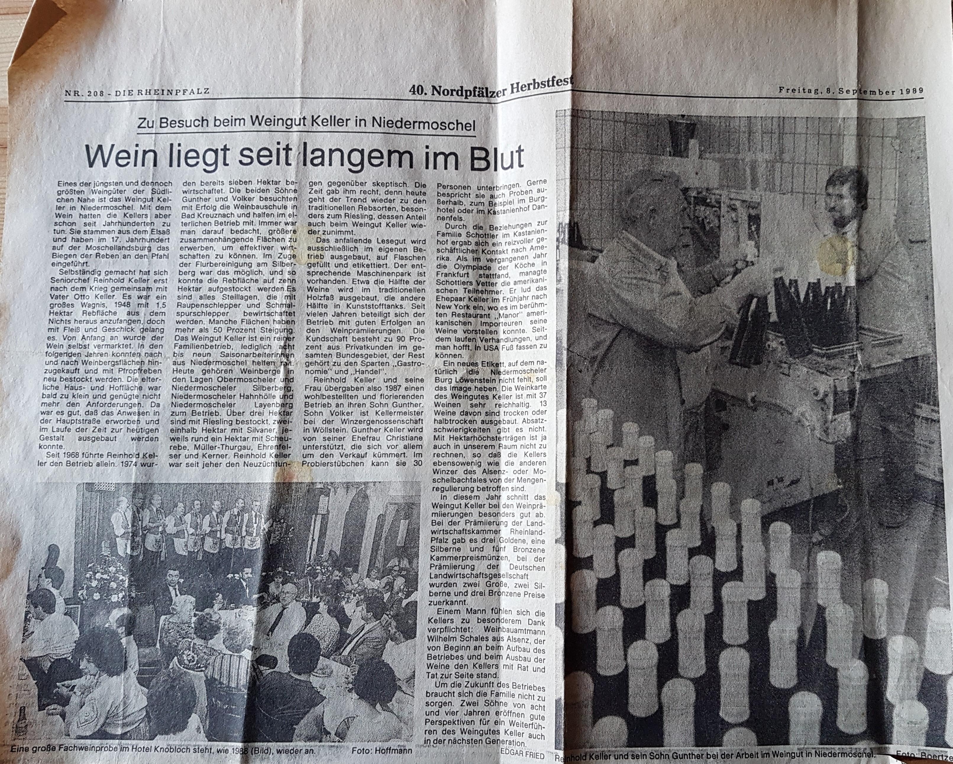 Rheinpfalz Artikel 1989