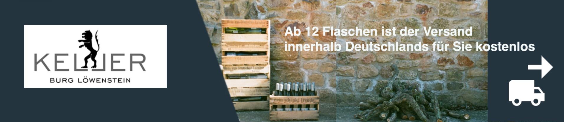 Ab 12 Flaschen ist der Versand innerhalb Deutschlands für Sie kostenlos.