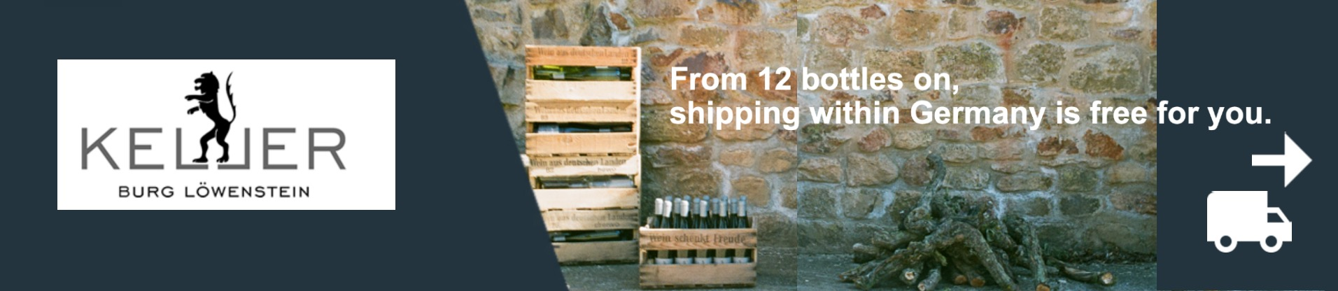 From 12 bottles on, shipping within Germany is free for you.
